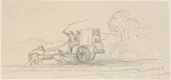 Special mail cart running from Jubbulpore to Nagpur (C.P.). 2 January 1869